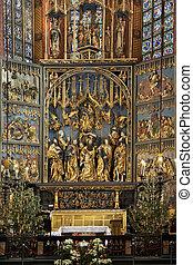 Krakow - Church of St Mary - Poland - The High Altar by Veit...