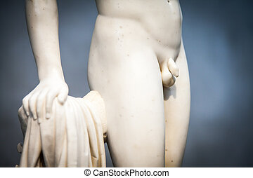 Penis - Copy of Greek statue with detail on sexual area