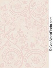 beige background with abstract floral ornaments
