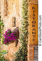 Italian Restaurant - Tuscany, Italy Sightseeing of Italian...