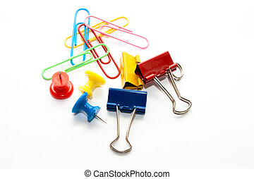 stationary - Different colors of stationary, clips ect