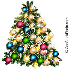 Beautiful vector Christmas tree for design - Vector...