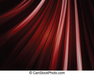 Red Waves Background on Black