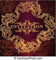 Elegant invitation card in luxury