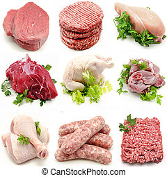 mural, vario, carnes