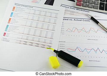 Project data work sheet