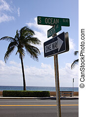 Worth Ave. and Ocean Drive - A shot of the intersection of...