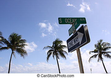 Worth Ave Street Sign - A shot of the intersection of South...