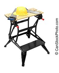 Workbench - A work bench isolated against a white background