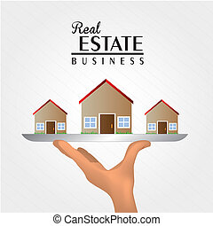 real estate over gray background vector illustration