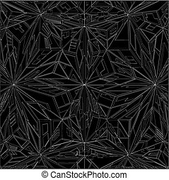 Diamond Crystal Geometric Pattern