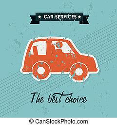 car service over blue background vector illustration
