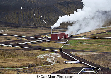 Krafla Geothermal Power Station in Iceland - Krafla Geo...