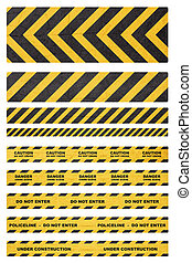 Caution tape - Caution, danger, and police tape attention...