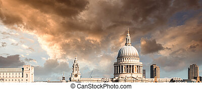C/, Paul, catedral, vista, milenio, Puente, londres