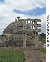 Sanchi Stupa Three, Sanchi, Madhya Pradesh, India