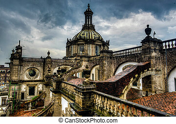 Cathedral Metropolitana, Mexico City, Roof View - The...