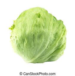 Green Iceberg lettuce - Fresh Green Iceberg lettuce . (with...