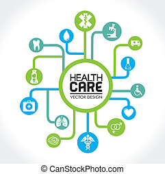 health care design over white background vector illustration