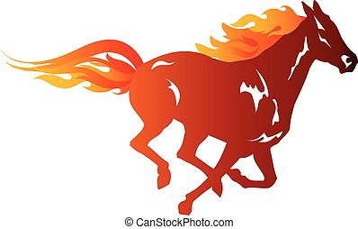 Fiery Horse - Running fiery horse - 2014 Year of Horse...