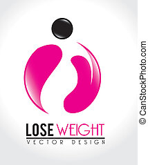 lose weight design over white background vector illustration