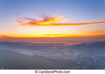 Sunset hilltop