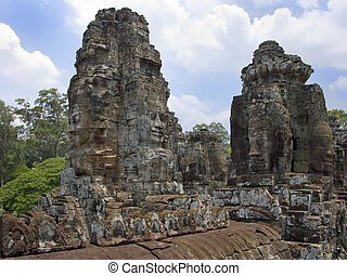 Angkor Wat - Cambodia. The Bayon Temple near Angkor Wat in...