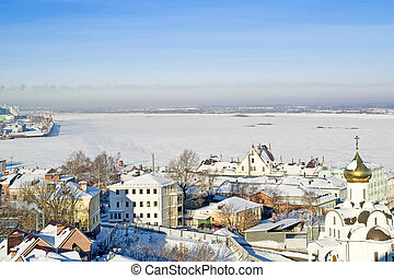 Nizhny Novgorod - City landscape Houses and buildings of...