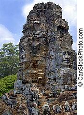 Angkor Wat - Cambodia. The Bayon Temple near Angkor Wat in...