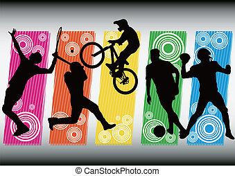 sport soccer baseball icon silhouet - sport tennis soccer...