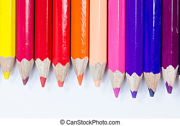 Color pencils crayon for kid education or artist