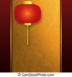 Invitation card with Chinese lantern - Abstract background...