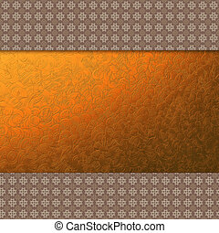 Invitation card with decorative gold lace - Abstract...