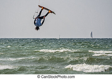 Kite Surfer - A Kite Surfer on the Baltic Sea