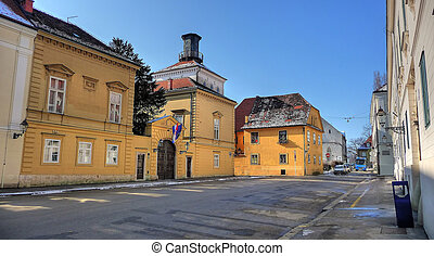City of Zagreb historic upper town