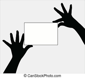 a pair hands holding board