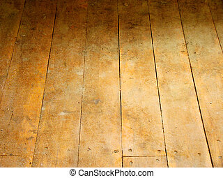 Wood floor - Grunge wood floor for background