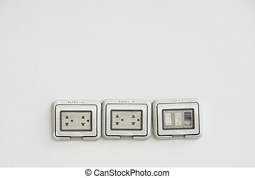 Plug and switch 1 - Plug and switch on white background