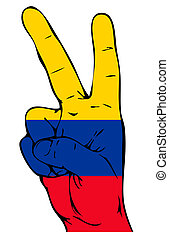 Peace Sign of the Colombian flag