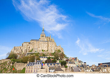 Abbey of Mont Saint Michel - Abbey of Mont Saint Michel, at...
