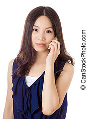 Asian woman using mobile
