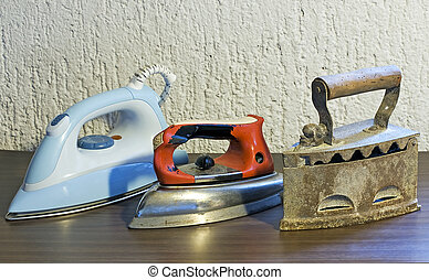 Iron generations - Three generations of home appliance like...