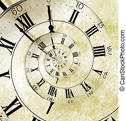 Retro Clock Face - An old vintage clock face