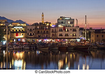 Kyrenia Harbor - Turkish Cyprus - The harbor at Kyrenia...