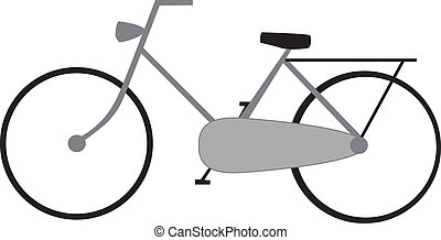 bike - drawing of a bike isolated on white