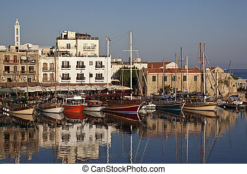 Kyrenia - Turkish Republic of Northern Cyprus - The harbor...