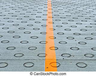 Circle on the road for friction at Nagasaki Urakami...