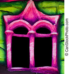 Fairytale Window - A little and colourful window reminescent...