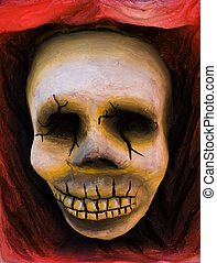 Mardi Gras Skull - A typical mardi grass skull on a carnival...
