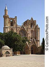 Famagusta - Turkish Cyprus - Lala Mustafa Pasha Mosque in...